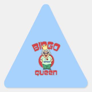 Reina del bingo - personalizar pegatina triangular