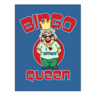 Reina del bingo - personalizar postal