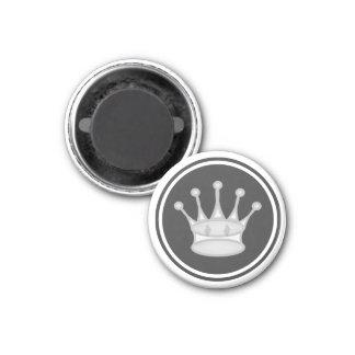 Reina del blanco del pedazo de ajedrez imán redondo 3 cm