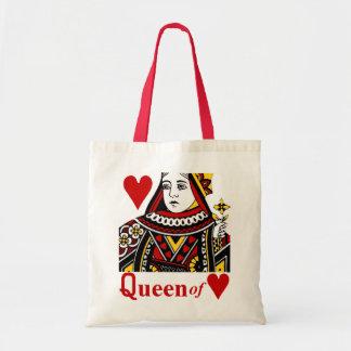 Reina del bolso de los corazones bolsa tela barata