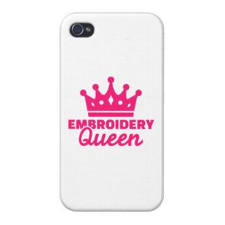 Reina del bordado iPhone 4/4S fundas