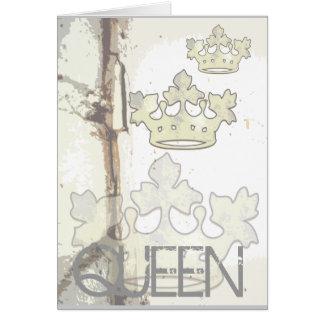Reina del bosque tarjeta de felicitación
