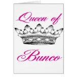 reina del bunco tarjeta de felicitación
