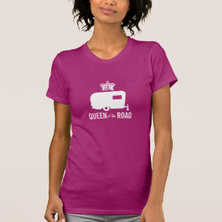 Reina del camino - camiseta del remolque del viaje