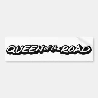 Reina del camino etiqueta de parachoque