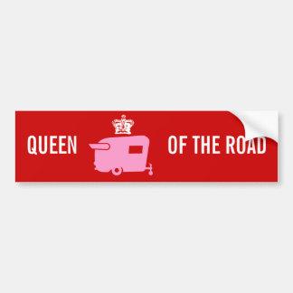 Reina del camino - humor del remolque del viaje pegatina de parachoque
