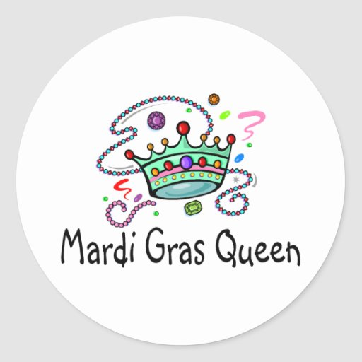 Reina del carnaval pegatina redonda