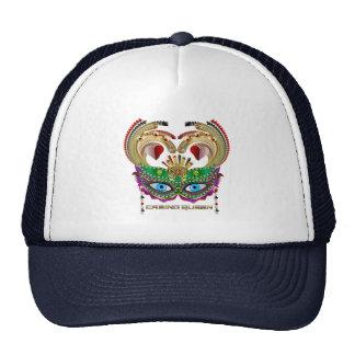 Reina del casino del carnaval leída sobre diseño gorra