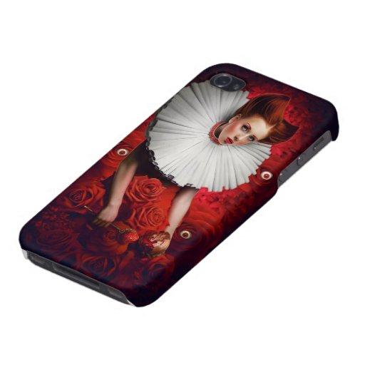 Reina del caso del iPhone 4s de los corazones iPhone 4 Cárcasa