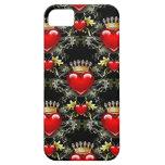 Reina del caso del iPhone 5 de los corazones II iPhone 5 Fundas