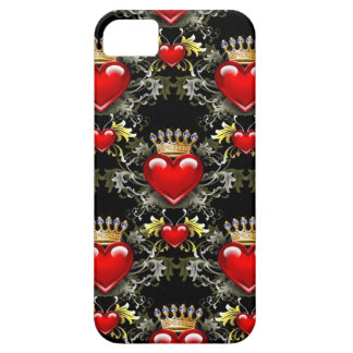 Reina del caso del iPhone 5 de los corazones II iPhone 5 Funda