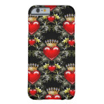 Reina del caso del iPhone 6 de los corazones II Funda De iPhone 6 Barely There