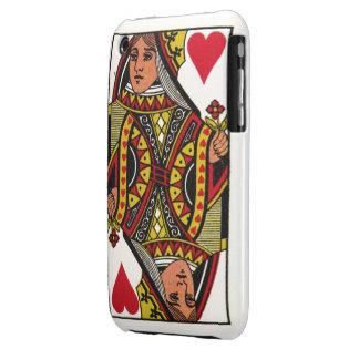 Reina del compañero de la caja de los corazones iPhone 3 protector