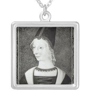 Reina del d'Anjou de Marie de Francia Collar Plateado
