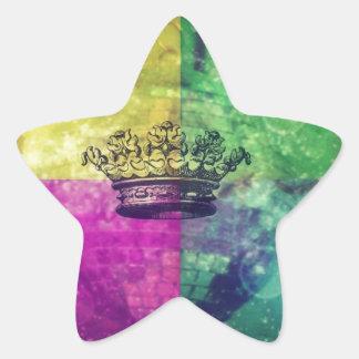 Reina del disco pegatina en forma de estrella