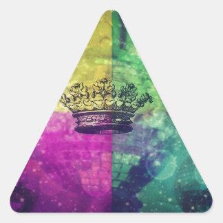 Reina del disco pegatina triangular