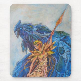 Reina del dragón azul tapete de raton