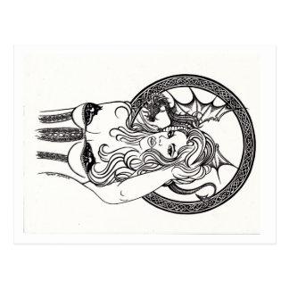 Reina del dragón por la postal de CYn Mc