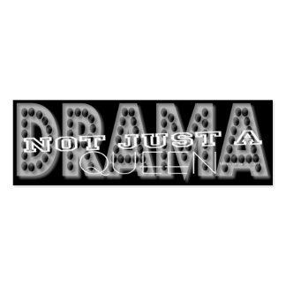 Reina del drama - tarjeta personal de los medios