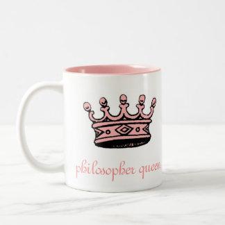 Reina del filósofo (crwn) del pnk 2tone rosado taza de dos tonos