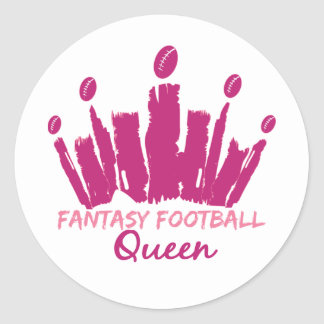 Reina del fútbol de la fantasía pegatina redonda