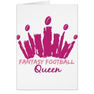 Reina del fútbol de la fantasía tarjeta de felicitación