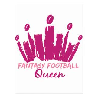 Reina del fútbol de la fantasía postales