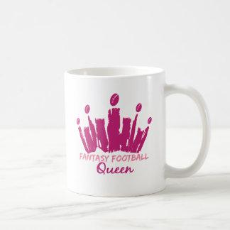 Reina del fútbol de la fantasía taza de café