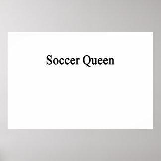 Reina del fútbol póster