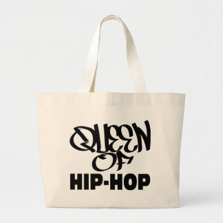 reina del hip-hop bolsa tela grande