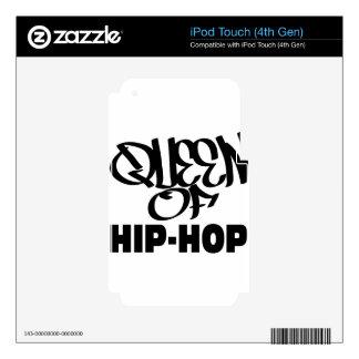 reina del hip-hop calcomanías para iPod touch 4G