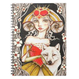 Reina del hombre lobo cuaderno