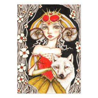 Reina del hombre lobo tarjetas de visita grandes