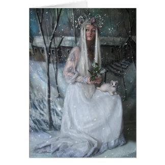 Reina del invierno tarjeta de felicitación
