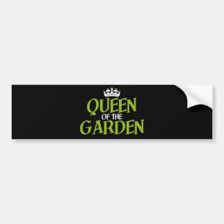 Reina del jardín pegatina de parachoque