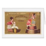 Reina del lavadero tarjetas