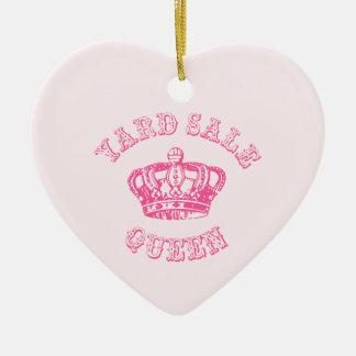 Reina del mercadillo casero adorno de cerámica en forma de corazón