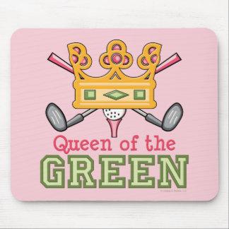 Reina del Mousepad verde Tapetes De Raton