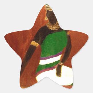 Reina del Nilo Calcomanía Forma De Estrella Personalizadas