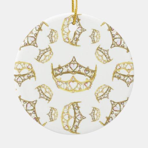 Reina del ornamento de la tiara de la corona de lo ornamentos de navidad