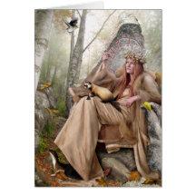 Reina del otoño - tarjeta de felicitación