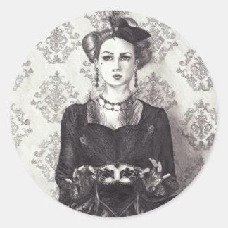 Reina del pegatina Alicia de los corazones en arte