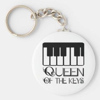 Reina del piano de las llaves llavero redondo tipo pin