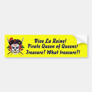 Reina del pirata del Queens Pegatina Para Auto