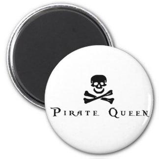 Reina del pirata imán para frigorífico