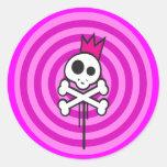 Reina del pirata pegatina redonda