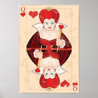 Reina del poster de los corazones
