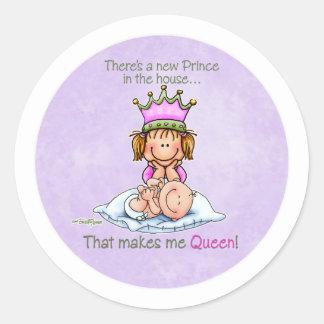 Reina del príncipe - pegatinas de la hermana grand