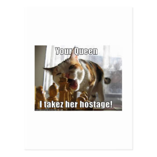 Reina del rehén postal