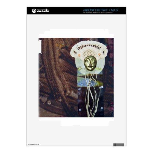 Reina del solsticio - collage pegatina skin para iPad 3